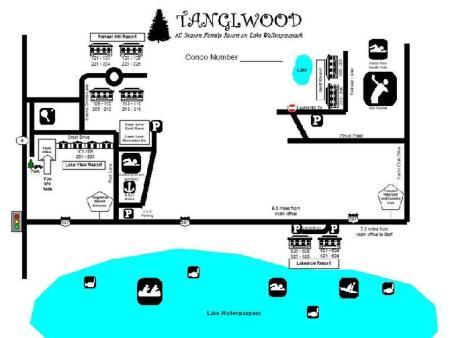 Tanglwood Map