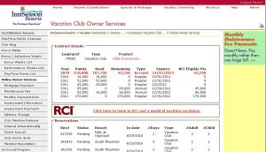 In the center of the page, there is a link to your RCI account.