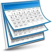 calendar in blue